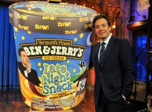 "Jimmy Fallon And Ben & Jerry's Announce New ""Late Night Snack"" Flavor"
