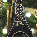 Eiffel Tower Felt Ornaments