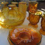 Golden Glass Sculptures With Solar Lights