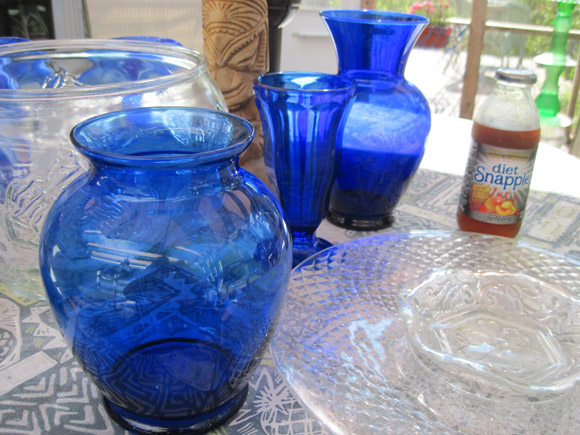 Playing With Blue Glass