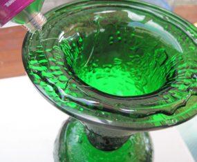 Green Glass Solar Light Sculptures