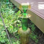 Green and Gold Glass Sculpture