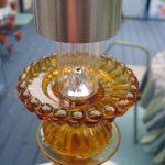 Gold Glass Sculpture With Solar Light