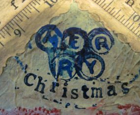 Art for My Mixed Media Christmas Card