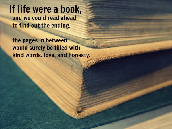 if life were a book and