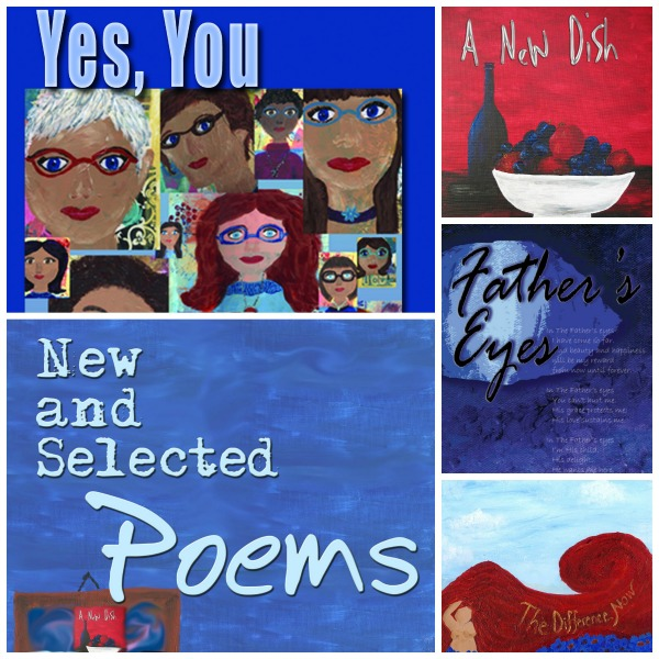 poetry book collage