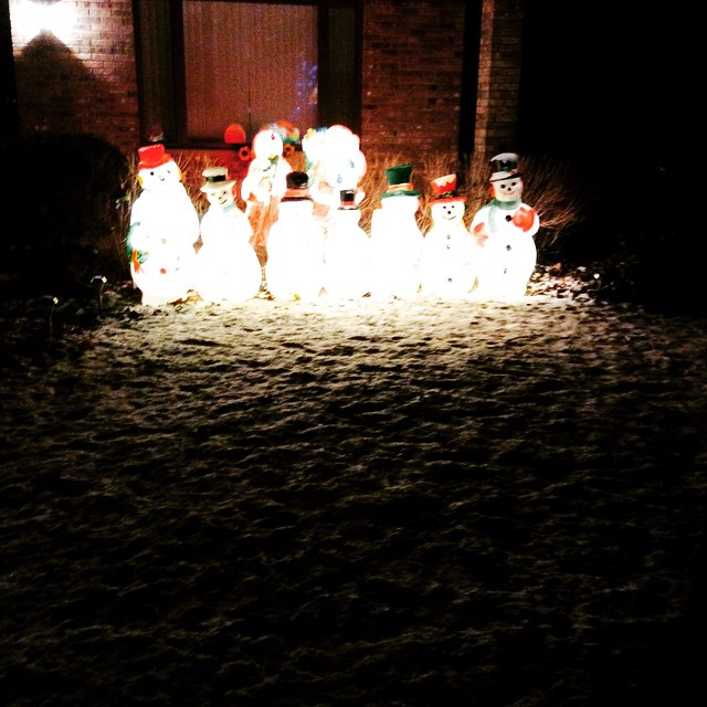 Light 'em up snowmen