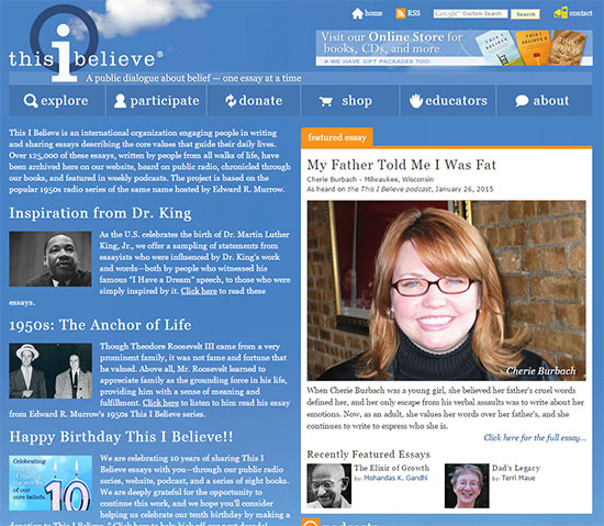 thisibelieve essay How to write a this i believe essay, instructions for school and college students.