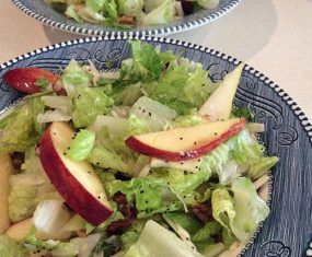 Apple, Pear, Dried Cranberry Salad