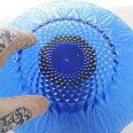Blue Glass Sculpture Solar Light Set
