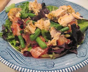 Salmon and Grapefruit Salad With Popovers