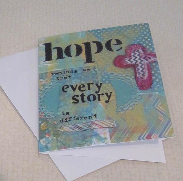 hope reminds us closeup