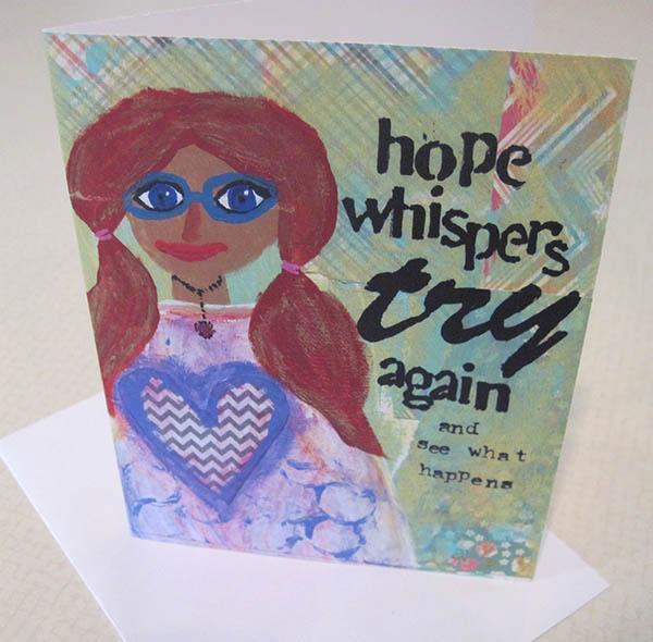 hope whispers standing