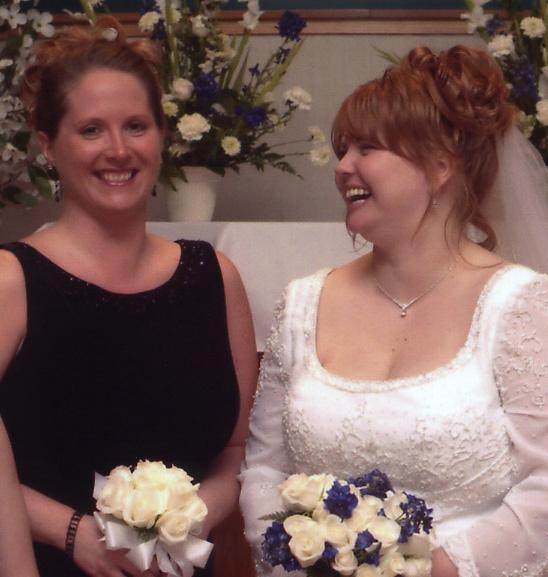 CHURCH cherie bridesmaids laughing