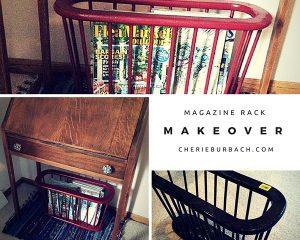 Magazine Rack Makeover