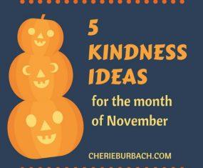 5 Kindness Ideas for November