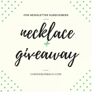 Necklace Giveaway