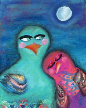 snugging under a moonlit sky by cherie burbach