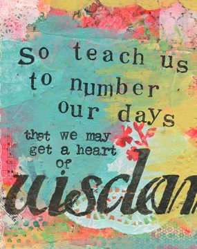 so teach us to number our days by cherie burbach