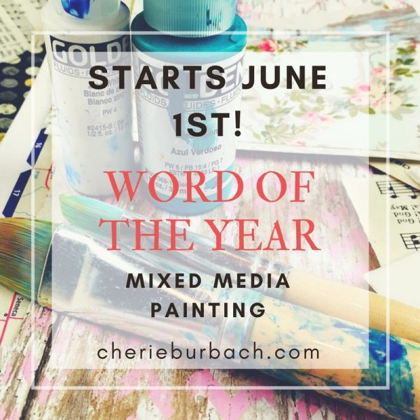 Word of the Year Mixed Media Painting
