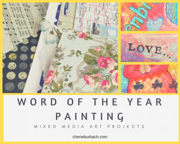 Word of the Year Mixed Media Painting Ecourse