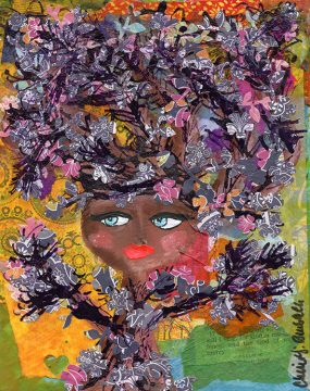 purple tree by cherie burbach