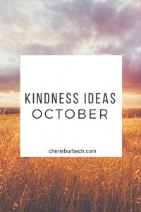 October Kindness Ideas