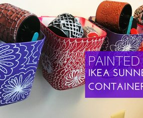 Painted IKEA SUNNERSTA Containers