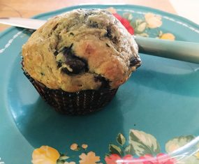 Banana Zucchini Muffins With Blueberries