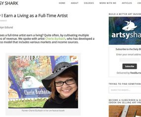 Artsy Shark and Making Money as an Artist