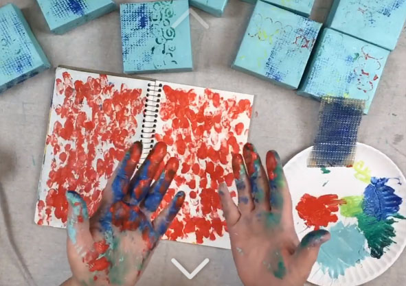 Don't Waste Paint But Do Get Your Hands Dirty