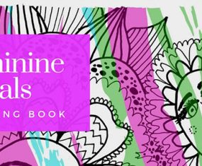 My Newest Coloring Book! Feminine Florals