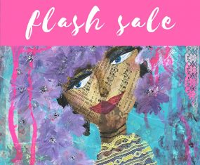 Flash Sale: Purple Flowers In Her Hair