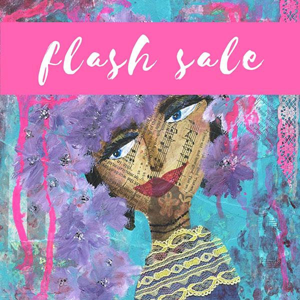 Flash Sale: Purple Flowers In Her Hair