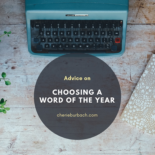 Choosing a Word for the Year