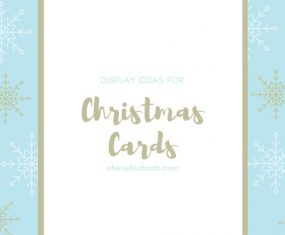 Display Ideas for Christmas Cards