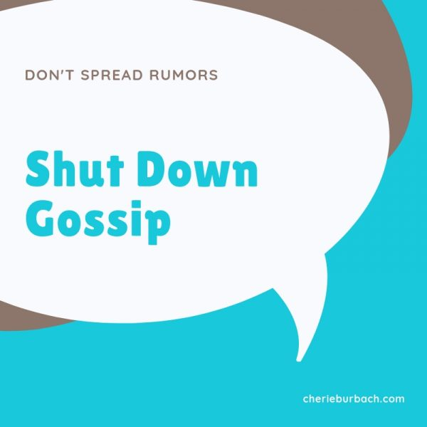Shut Down the Gossip Train