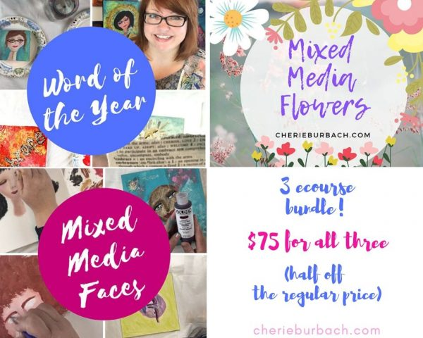 Summer Bundle – Mixed Media Faces, Mixed Media Flowers, and Word of the Year