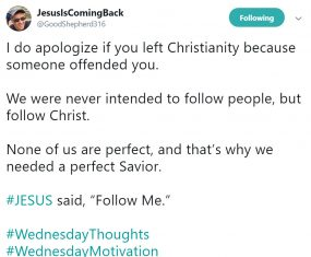 We Aren't Perfect, But God Is