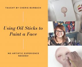 Want to Learn How to Paint Faces With Oil Sticks?