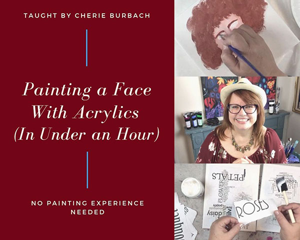 Painting a Face With Acrylics