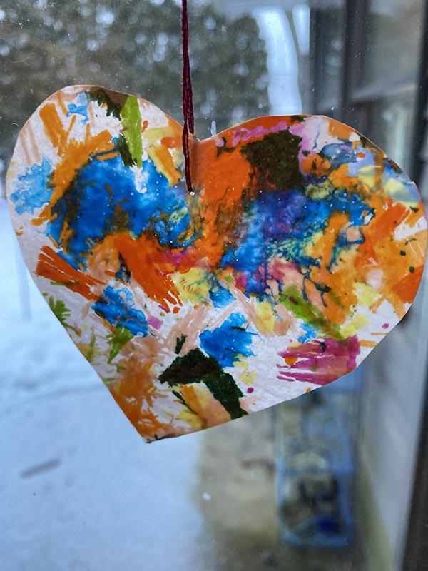 Wax Crayon Heart