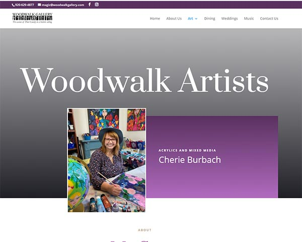 Find My Art All Year Round at the Woodwalk Gallery in Door County